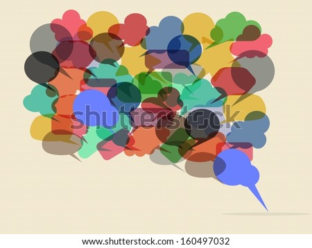 Eps10 illustration : Communication concept - stock vector