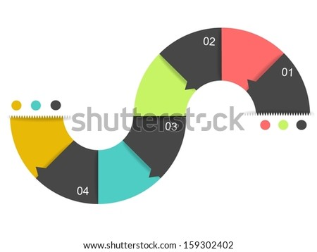 Eps10 illustration : Infographic concept - stock vector
