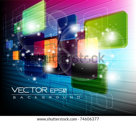 eps10 multicolor abstract vector design - stock vector
