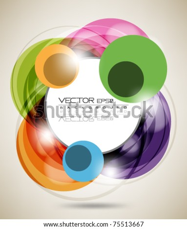 eps10 multicolor circle abstract background - stock vector