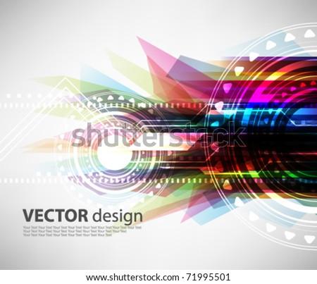 eps10 multicolor futuristic grunge design - stock vector