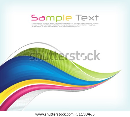 eps10 multicolor wave - stock vector