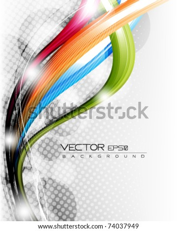 eps10 multicolor wave vector layout with space for your text - stock vector