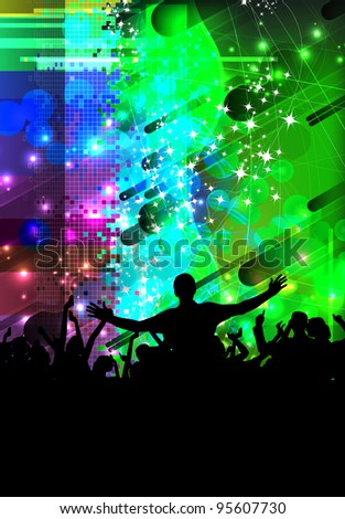 EPS10 party people vector background