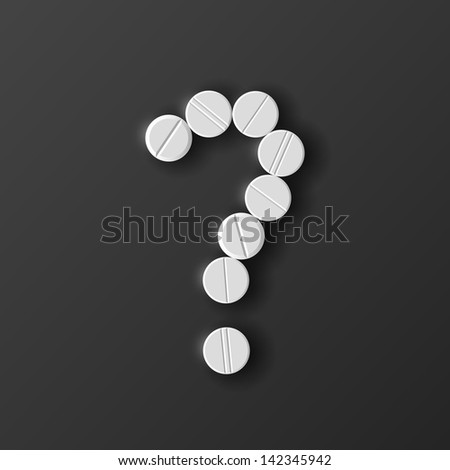 eps, question mark of the pills - stock vector