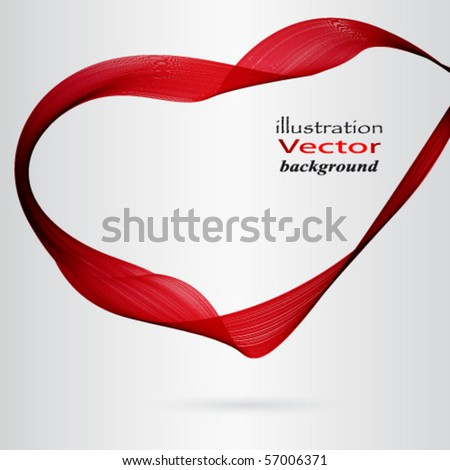 Eps Red Frame - stock vector