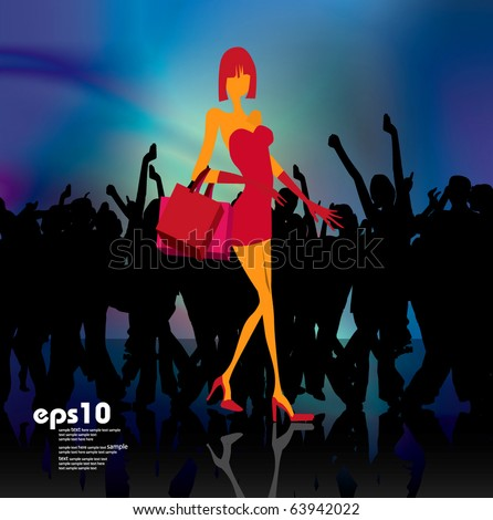Eps10 shopping vector illustration - stock vector