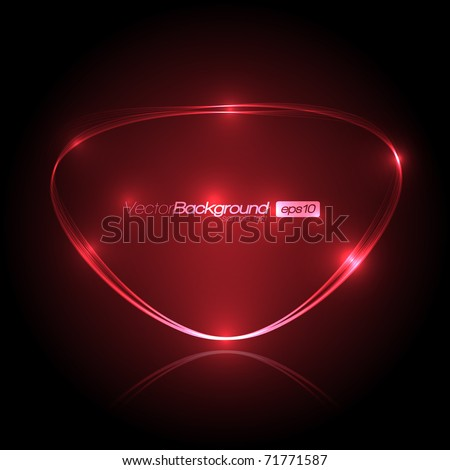 EPS10 Speech Bubble Made of Light Vector Design - stock vector