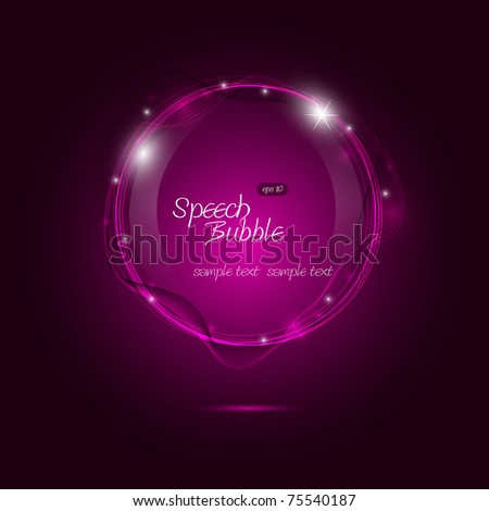Eps10 Speech Bubble Vector Design - stock vector