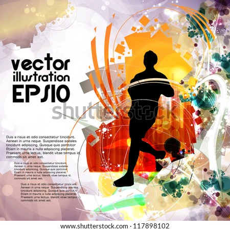 Eps10 sport vector illustration - stock vector