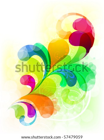 EPS10. Super colorful trendy element for your design - stock vector