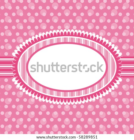 Eps template frame design for greeting card - stock vector