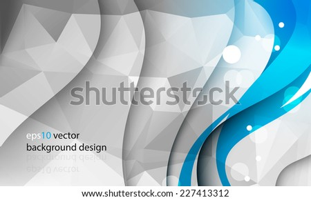 eps10 vector abstract business template with triangular shapes and wave with shadow concept background - stock vector