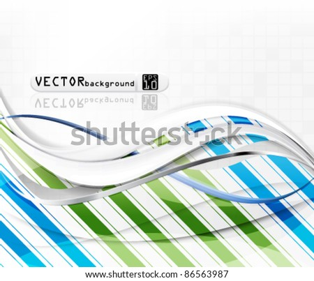 eps10 vector abstract colorful design background - stock vector