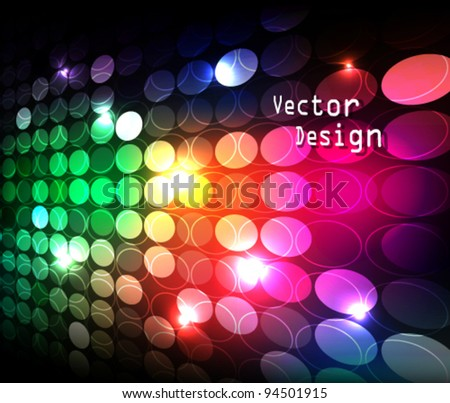 Eps10 Vector Abstract Colorful Modern Business Background Design - stock vector