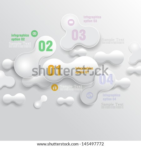 eps10 vector abstract 3D bubble infographic concept design - stock vector