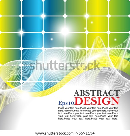 Eps10 vector abstract design with shine color full background. - stock vector