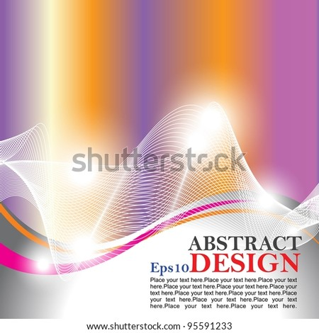 Eps10 vector abstract design with shine colorfull background.
