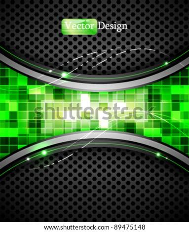 Eps10 Vector Abstract Digital Green Design - stock vector