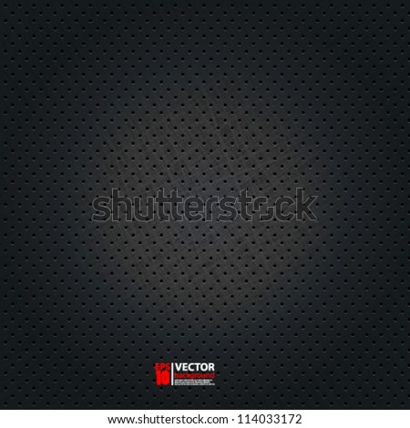 eps10 vector abstract dotted metal background design - stock vector
