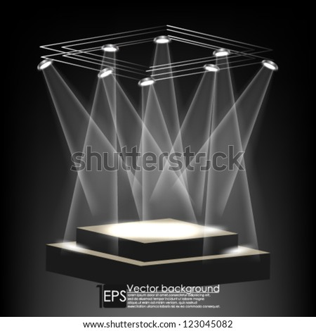 Eps10 Vector Abstract Elegant Stage background - stock vector