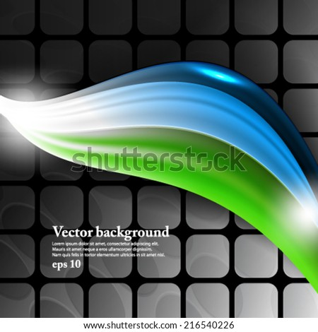 eps10 vector abstract elegant wave geometric background design template - stock vector