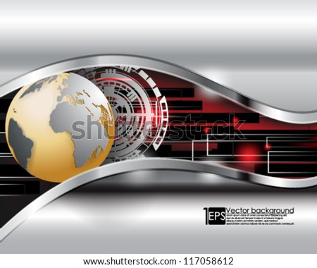 eps10 vector abstract futuristic business background design - stock vector