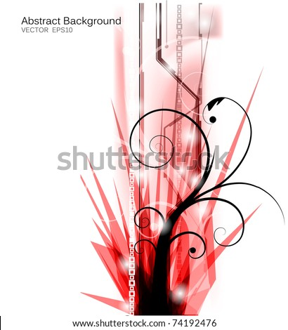 eps10 vector abstract futuristic design - stock vector