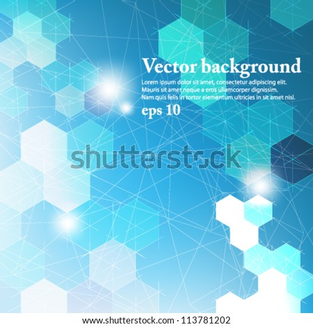 eps10 vector abstract futuristic geometrical background - stock vector