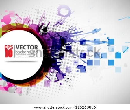 eps10 vector abstract futuristic grunge desgin - stock vector