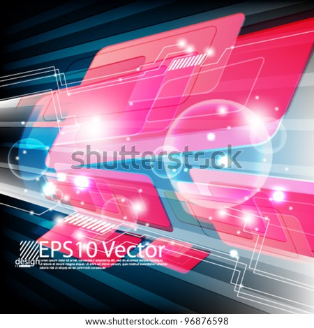 eps10 vector abstract futuristic motion background - stock vector