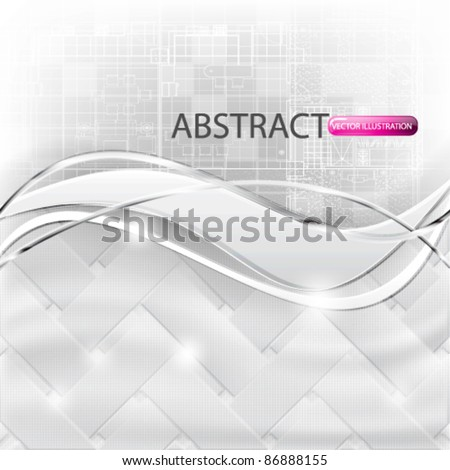 eps10 vector abstract futuristic weave background design - stock vector