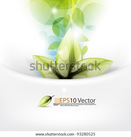 eps10 vector abstract leaf concept design - stock vector
