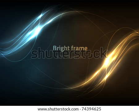 EPS10 vector abstract lines - stock vector