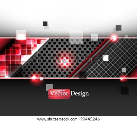Eps10 Vector Abstract Modern Futuristic Design - stock vector