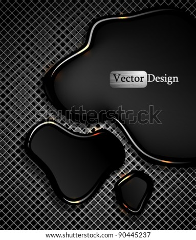 Eps10 Vector Abstract Modern Futuristic Spilled Oil Design - stock vector