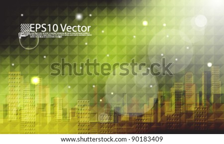 eps10 vector abstract mosaic city landscape background