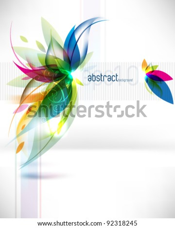 eps10 vector abstract multicolor leaf background - stock vector