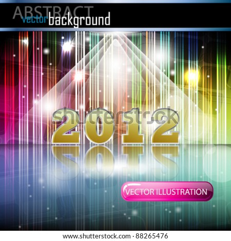 eps10 vector abstract newyear background - stock vector