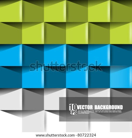 eps10 vector abstract origami concept background - stock vector