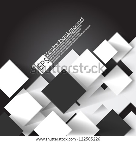 Eps10 Vector Abstract Overlapping square concept - stock vector