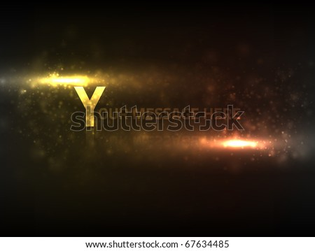 EPS10 vector abstract particle effect for the text of your choice; composition is colored in shades of yellow and orange - stock vector