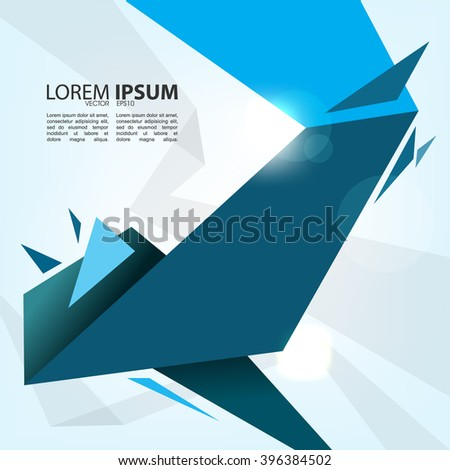 eps10 vector abstract polygon shape material flat layout design - stock vector