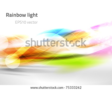 EPS10 vector abstract rainbow light - stock vector