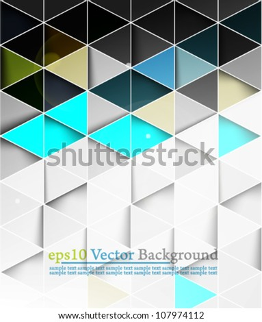 eps10 vector abstract seamless geometrical  background - stock vector