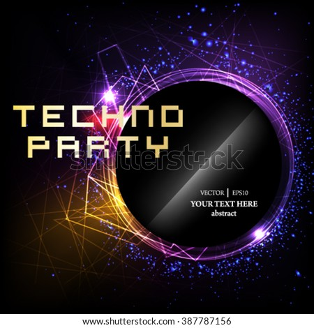 Eps10 vector abstract Shiny Flyer, Banner or Pamphlet for Party celebration. - stock vector