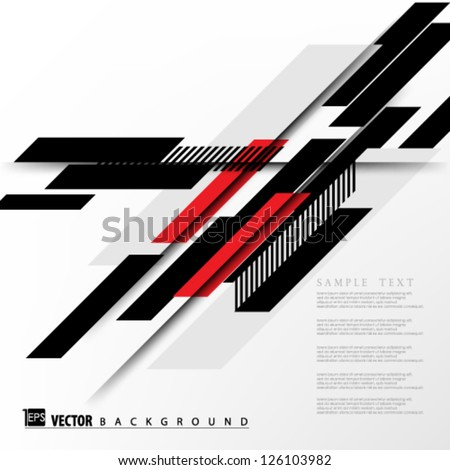 Eps10 Vector Abstract Slant shapes Background design - stock vector