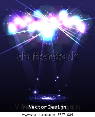 Eps10 Vector Abstract Spotlight Background Design - stock vector
