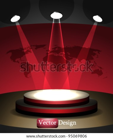 Eps10 Vector Abstract Stage Concept Design - stock vector