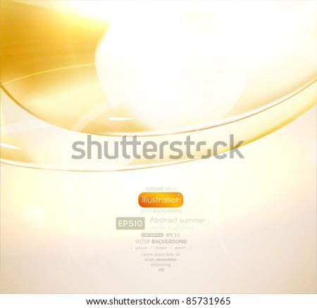 EPS10 vector abstract swirl for glow background - stock vector